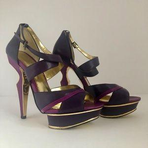 Used Bebe Purple & Gold BEBE High Heels